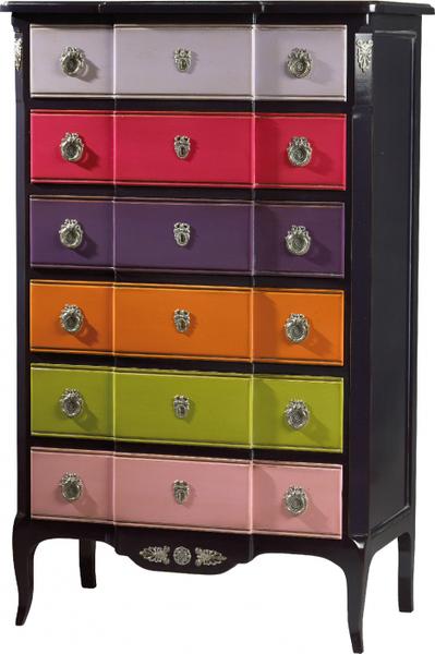 Chiffonnier 6 tiroirs collection marie antoinette de for Code meubles concept