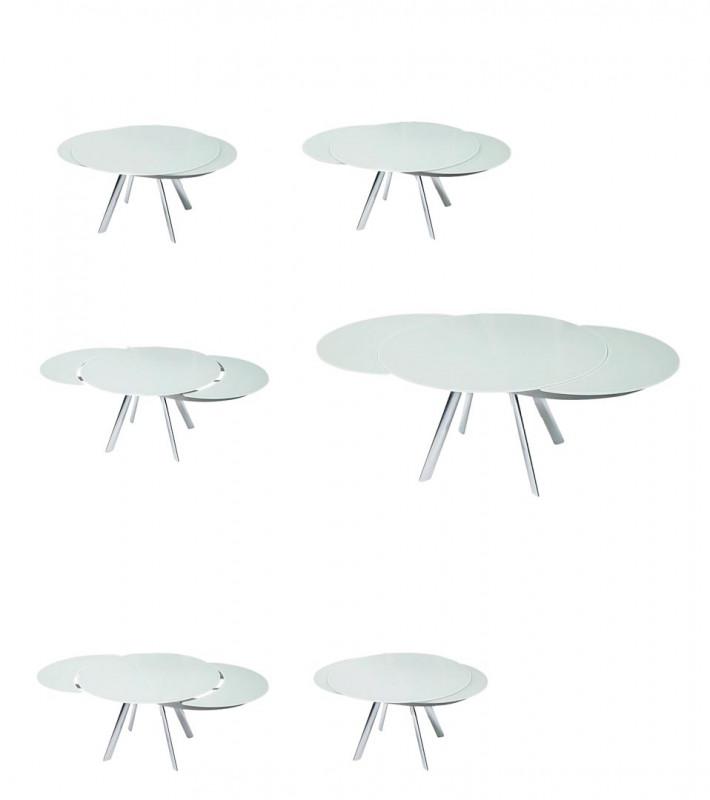 Table de repas giro de bontempi raphaele meubles - Table ronde telescopique ...