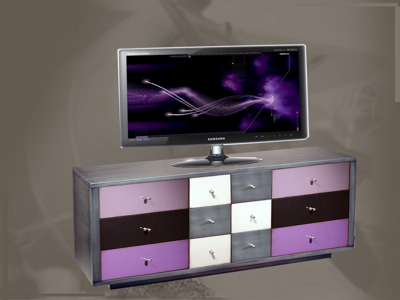 Meuble tv en bois personnalisable raphaele - Meuble personnalisable ...