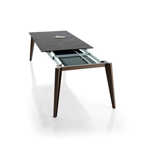 Table de repas noemie raphaele meubles for Table exterieur ceramique