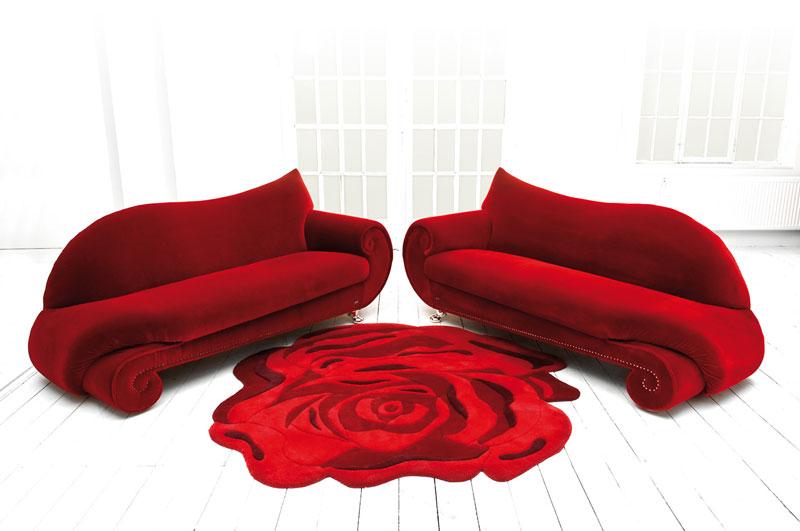 tapis fleur de rose de bretz raphaele meubles. Black Bedroom Furniture Sets. Home Design Ideas