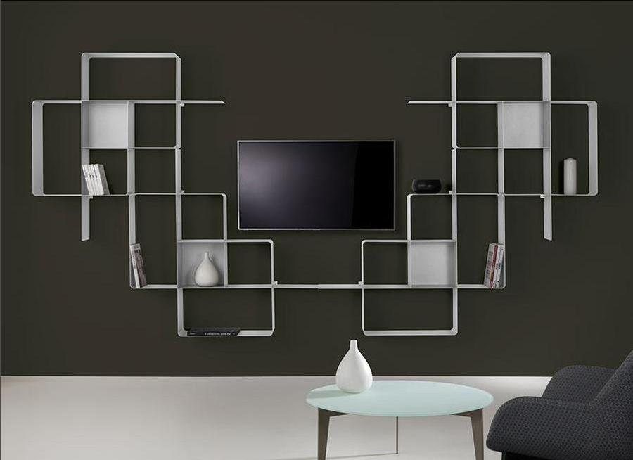 biblioth que modulaire murale mondrian de pezzani 9. Black Bedroom Furniture Sets. Home Design Ideas