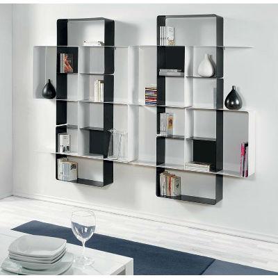 biblioth que modulaire murale mondrian de pezzani 7. Black Bedroom Furniture Sets. Home Design Ideas