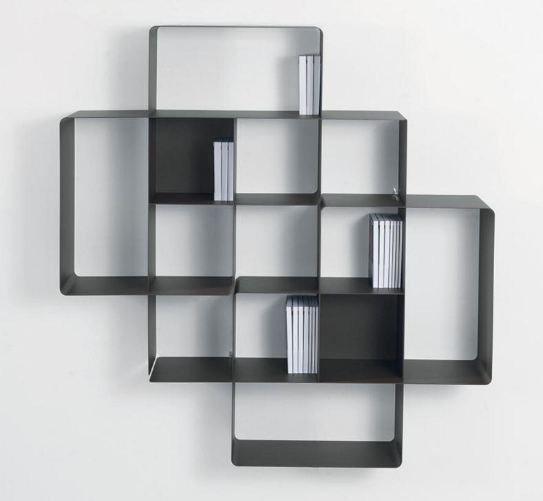 biblioth que modulaire murale mondrian de pezzani 2. Black Bedroom Furniture Sets. Home Design Ideas