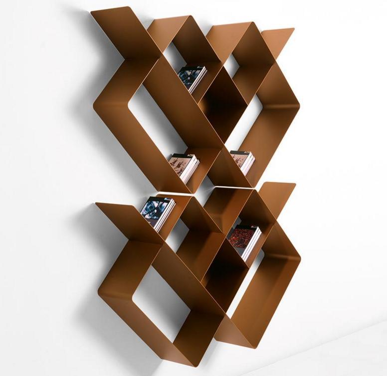 biblioth que modulaire murale mondrian de pezzani 1 raphaele. Black Bedroom Furniture Sets. Home Design Ideas