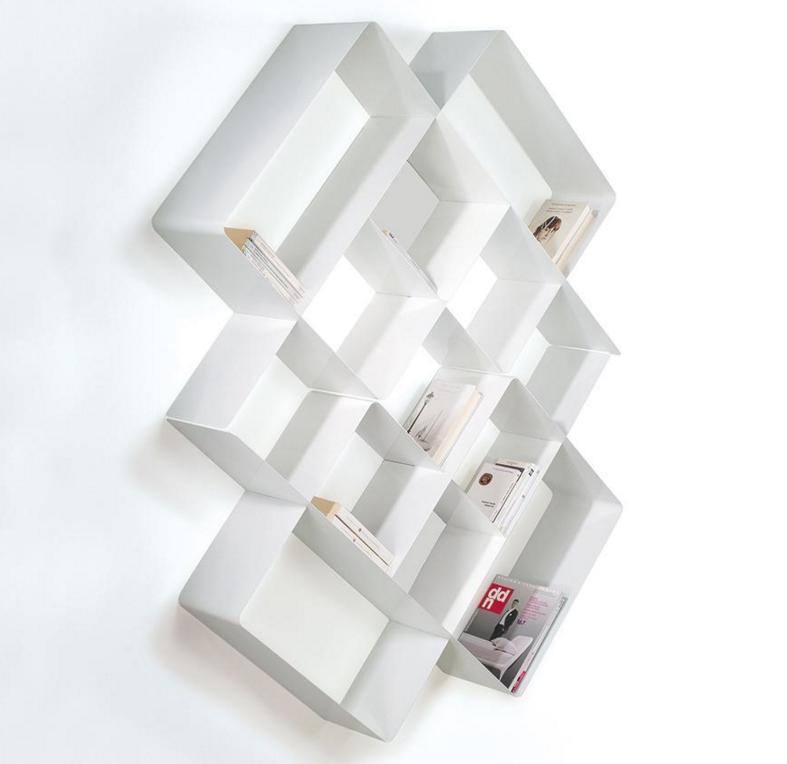 Biblioth que modulaire murale mondrian de pezzani 3 for Meuble bibliotheque modulaire