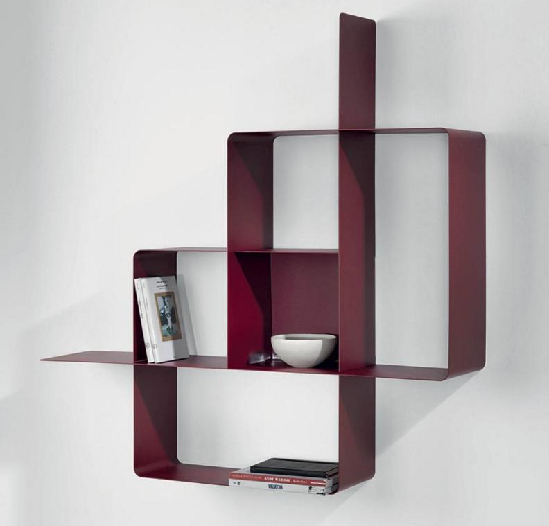 biblioth que modulaire murale mondrian de pezzani. Black Bedroom Furniture Sets. Home Design Ideas