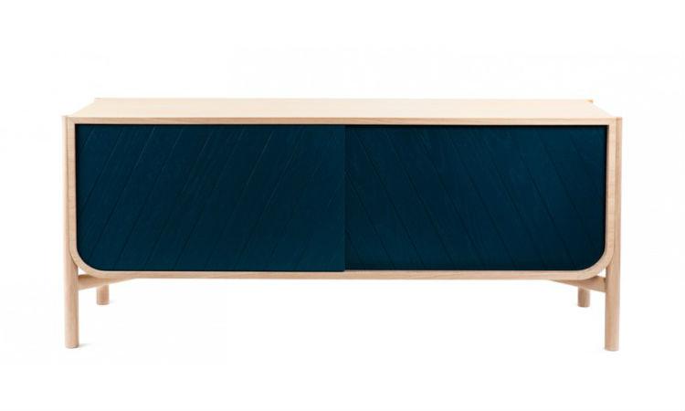bahut bas marius bleu p trole de hart raphaele meubles. Black Bedroom Furniture Sets. Home Design Ideas