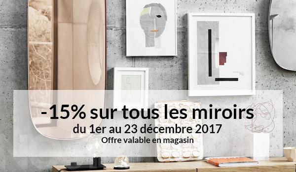 -15% sur tous les miroirs du 1er au 23 décembre 2017