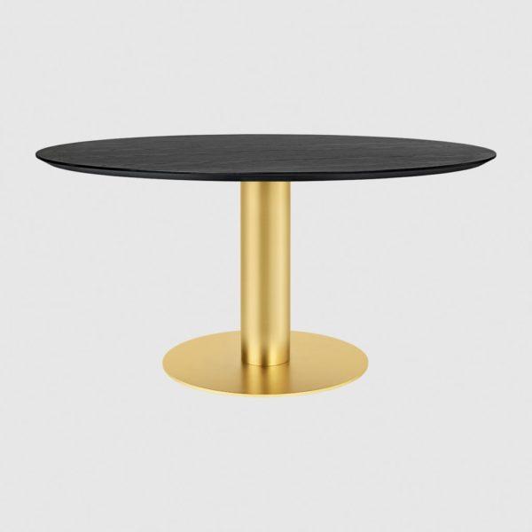 GUBI 2.0 Dining Table – Round – Dia. 150 – Brass base