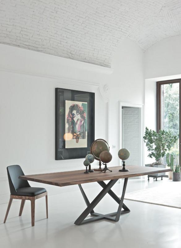 table millenium de bontempi raphaele meubles. Black Bedroom Furniture Sets. Home Design Ideas