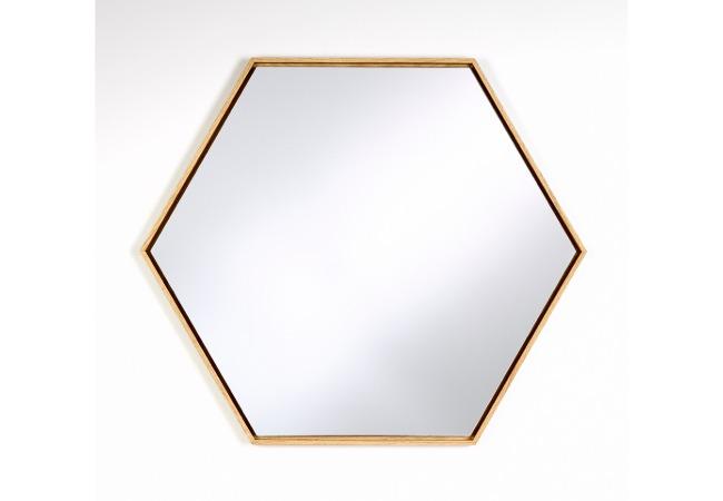 Miroir LINA OAK HEX ou BLACK HEX de Deknudt