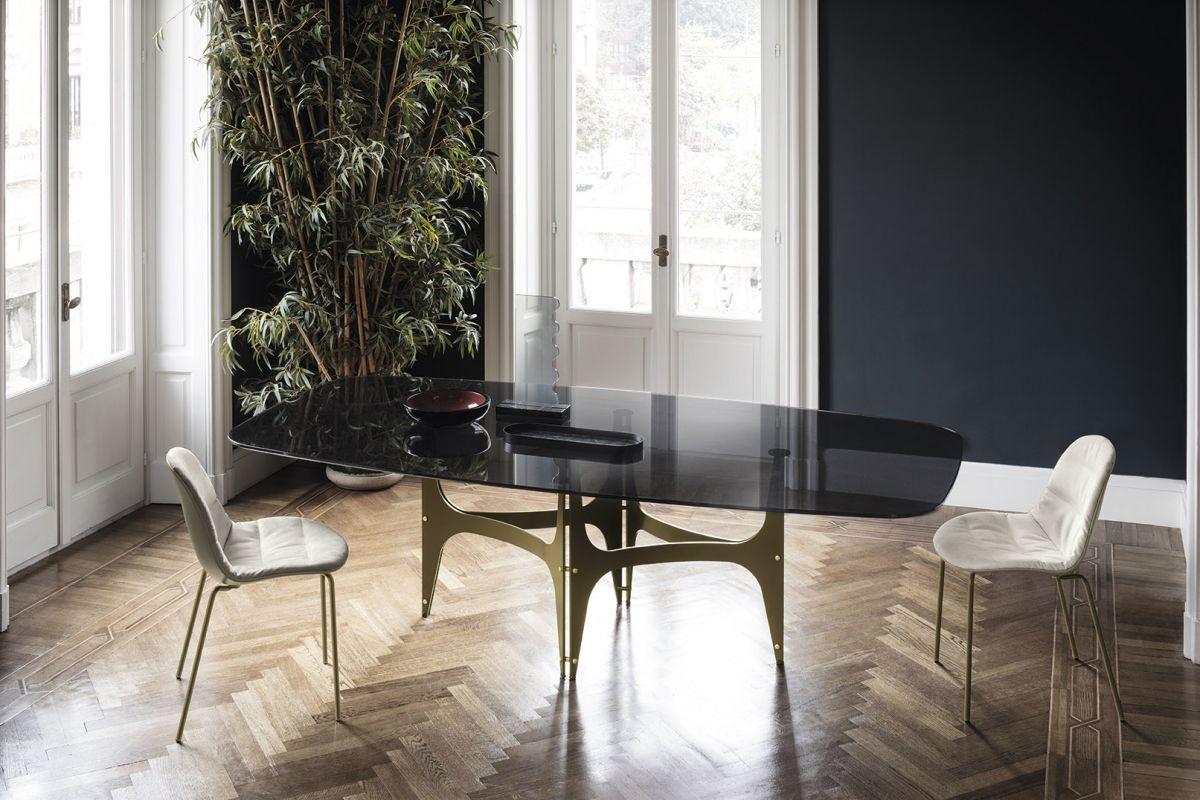 Table universe de bontempi raphaele meubles for Tavoli in vetro design