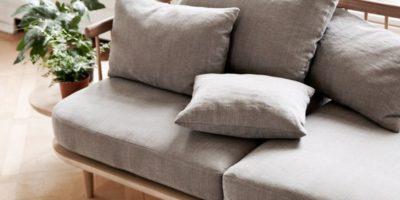 tissu bois canapé
