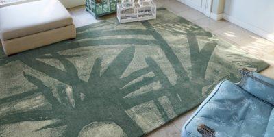 tapis haut de gamme vert