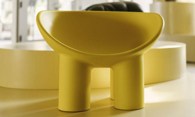 fauteuil design jaune