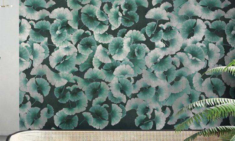 papier peint ginko tendance