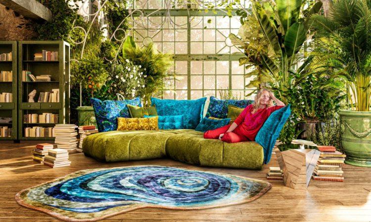 tapis chic coloré en mobilier été