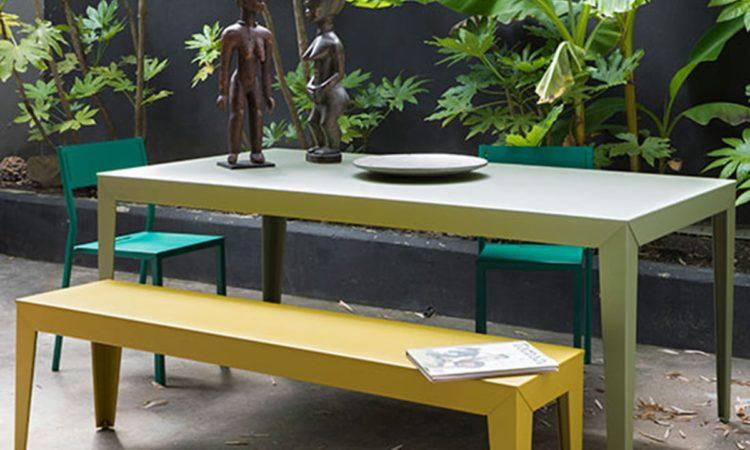 banc et table métal